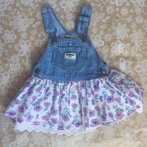 OshKosh B'Gosh Girls VestBak Cotton Skirt Dress